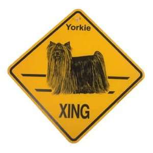 Yorkie Yorkshire Terrier Dogs Xing Crossing Sign New Gift