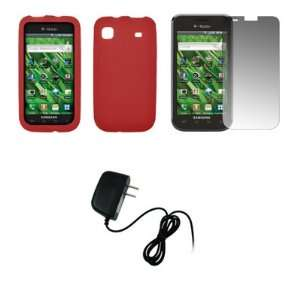 Samsung Galaxy S i9000   Red Soft Silicone Gel Skin Cover