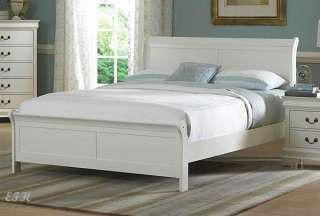 MARIANNE WHITE WOOD LOW PROFILE FULL/ QUEEN/ KING BED
