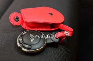R55 R56 R60 red Leather Mini cooper Key Fob countryman