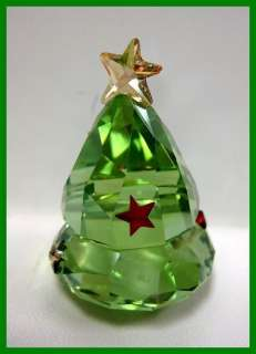 Swarovski Crystal Green Rocking Christmas Tree Figurine #1094408 New