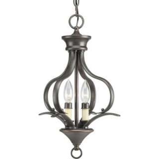 Progress Lighting Trinity Collection Antique Bronze 2 Light Chandelier
