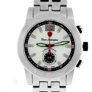 TONINO LAMBORGHINI MENS SWISS MADE QUARTZ CHRONOGRAPH STAINLESS WATCH