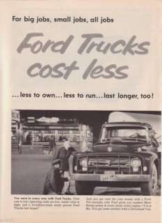 1957 Ford Semi Pickup Dump Stake Truck Photo 2 page ad