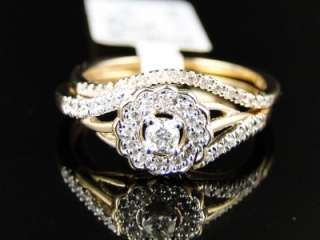 ROUND CUT DIAMOND ENGAGEMENT WEDDING BRIDAL RING SET 1/4 CT