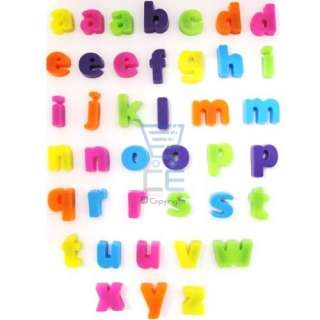 40 Mini Alphabet Letters Fridge Magnets   Multicolured