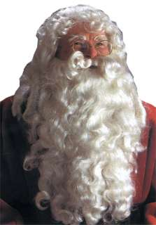 Deluxe Santa Claus Wig and Beard Set   Christmas Costume Wigs   15CA26