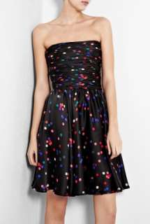 Halston Heritage  Confetti Print Bustier Party Dress by Halston