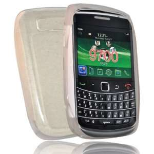 White gel case cover pouch holster for blackberry bold 9780