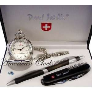 Jardin Mens Pocket Watch & Pocket Knife Gift Box Set Electronics