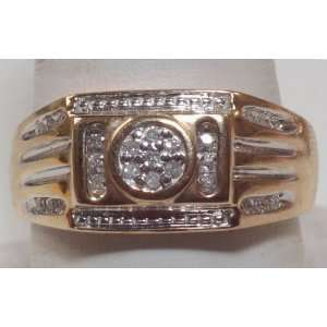 Diamond Two Tone Gold Mens Ring Jewelry Brand New Jewelry