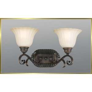 Iron Wall Sconce, JB 7372, 2 lights, Oiled Bronze, 18 wide X 10 high