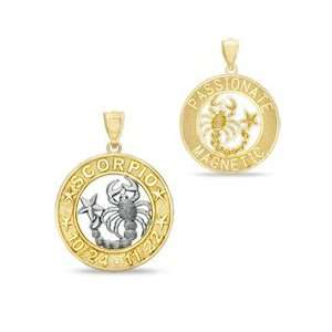 Scorpio Charm in 10K Two Tone Gold 10K CELESTIAL CHARMS Jewelry