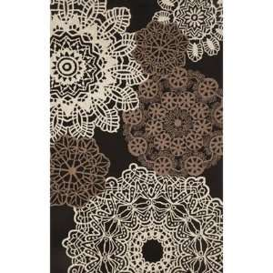 com Indoor/Outdoor Hand Tufted Area Rug Crochet 8 x 10 Black Carpet