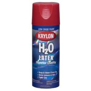 Krylon K02600000 H20 Latex Aerosol Spray Paint, 12 Ounce