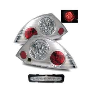 Mitsubishi Eclipse Chrome LED Tail Lights + LED 3rd Brake Lights Combo