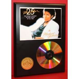 Michael Jackson 24kt Gold Art CD Disc Display   Music Memorabilia