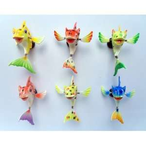 Paradise Fish   Refrigerator Bobble Magnet (Set of 6)