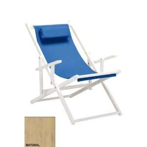 Sling Chair W/ Arms Royal Blue Natural Patio, Lawn