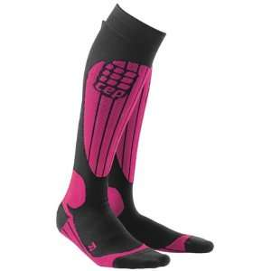CEP Sportswear Pink Compression Skiing Sport Socks for