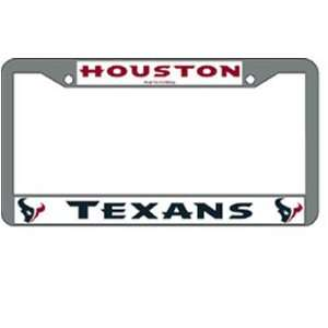 Houston Texans NFL Chrome License Plate Frame