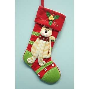20 Red & Green Plush Pet Cat Christmas Stocking #2918C