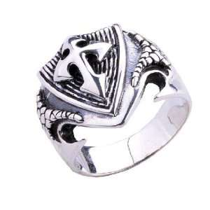 Design Fashion Shield Cross Ring .925 Thai Silver
