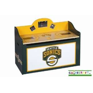 Seattle SuperSonics Wood Wooden Toy Box Chest