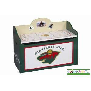 Minnesota Wild Wood Wooden Toy Box Chest