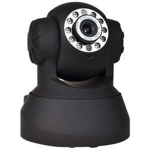 Night Vision Network Color Camera w/Pan and Tilt Control, Microphone