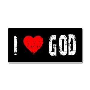 I Love Heart God   Window Bumper Sticker Automotive