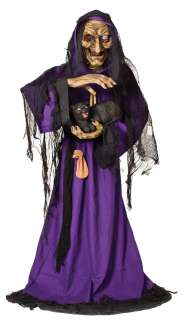 TALKING ANIMATRONIC WITCH Haunted House Halloween Prop