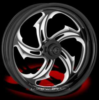 BLACK PERFORMANCE MACHINE RIVAL FRONT WHEEL & TIRE FOR HARLEY FAT BOY