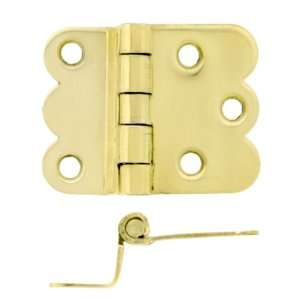Pair of Hoosier Offset Cabinet Hinges in Unlacquered Brass