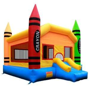 Grade Crayon Bounce House with Blower from Inflatable HQ Toys & Games