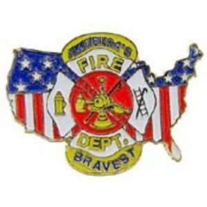 American Fire Fighter Pin 1 Arts, Crafts & Sewing