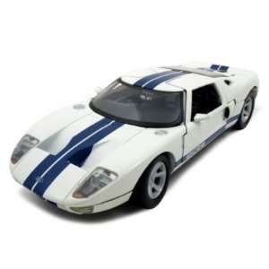 Ford GT Diecast Car Model 1/24 White Die Cast Car by