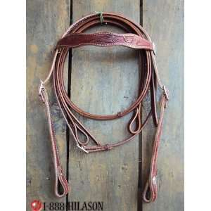 Leather Tack Horse Bridle Headstall Reins 004