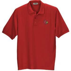 Louisville Cardinals Red Pique Polo Shirt