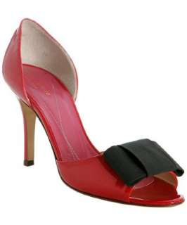 Kate Spade red patent Gina dorsay pumps