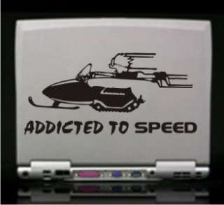 Addicted to Speed Calvin Snowmobile Decal   Car Laptop