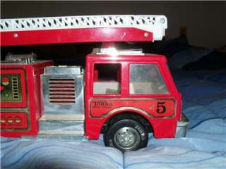 Vintage Metal Tonka Water Cannon Fire Truck Nice Shiny Paint No Rust
